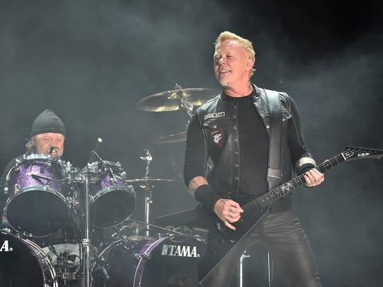 Lars Ulrich and James Hetfield of Metallica at MetLife