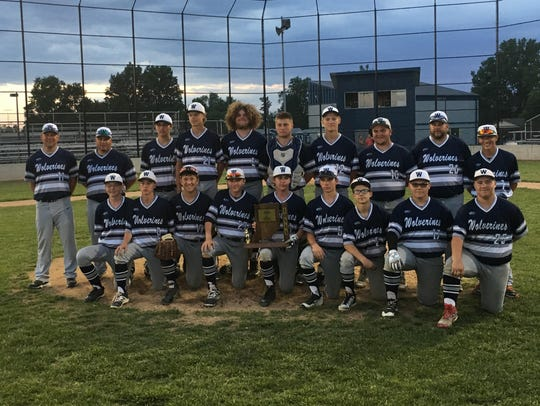 White River Valley baseball players pose with their