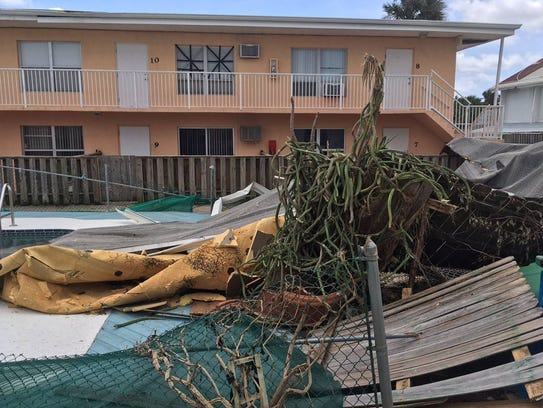 Ridgewood Condos in Cape Canaveral damaged by Hurricane