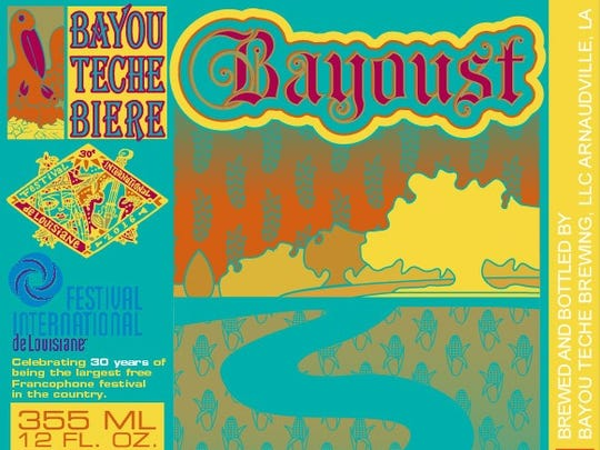 Bayou Teche Brewing's special edition Bayoust is only available during Festival.