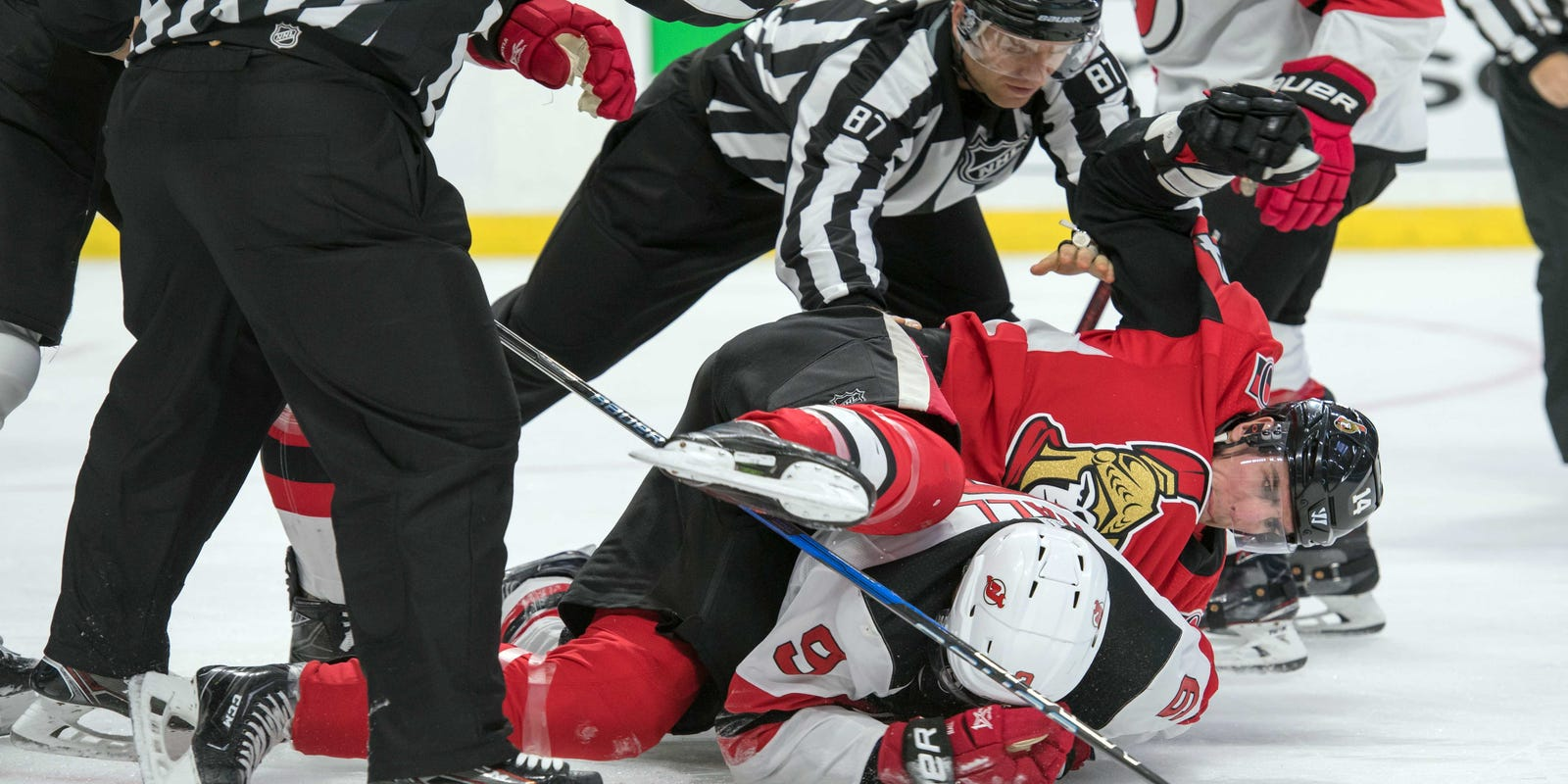 833abecfa68 Burrows faces hearing after kneeing Taylor Hall in helmet