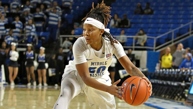 Ty Petty played high school basketball at Riverdale before continuing her career at Middle Tennessee.