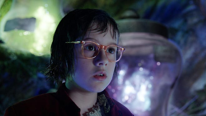 "This image released by Disney shows Ruby Barnhill in a scene from""The BFG."" (Disney via AP)"