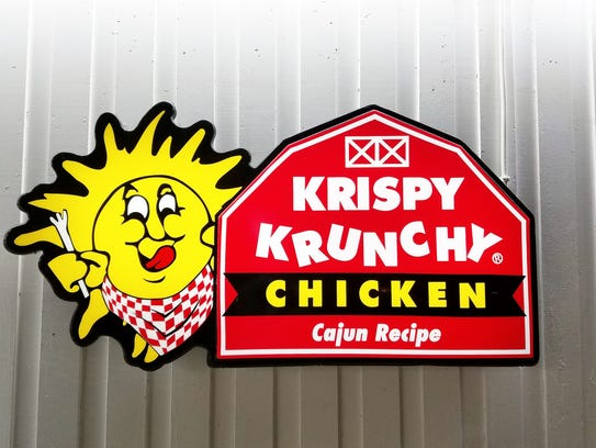 Look for the Krispy Krunchy Chicken logo on over a