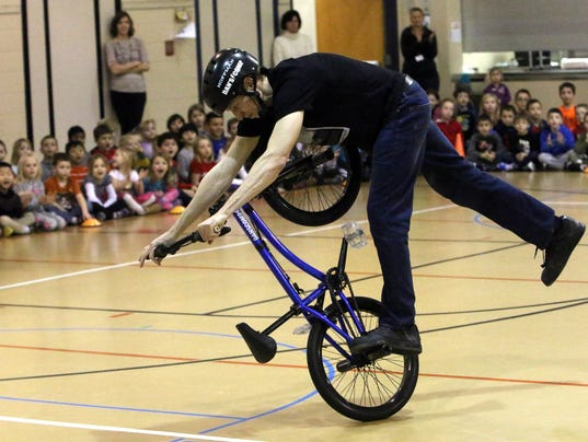 BMX Champion comes to Lannon Elementary