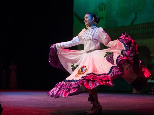 Victoria Morin preforms during the finals of the 58th annual Feria de las Flores in the Richardson Performance Hall at Del Mar College on Saturday, July 29, 2017.