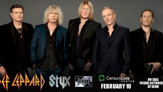 Def Leppard will play at the Cajundome Feb. 3