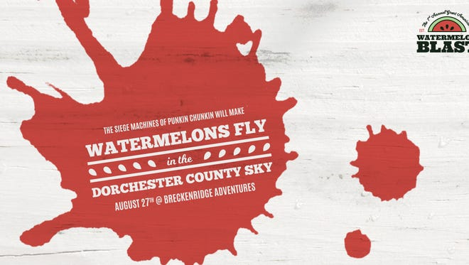 The 1st Annual Great American Watermelon Blast is coming to Linkwood, Maryland, on Saturday, Aug. 27, where the pumpkin-launching siege machines will instead be sending the green-skinned melons skyward.