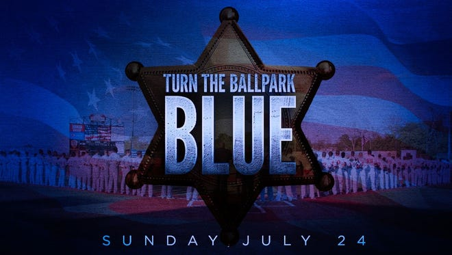 Sunday, July 24, Florence Freedom wants fans to help 'Turn the Ballpark Blue' in support of the families of the fallen officers in Dallas and Baton Rouge.