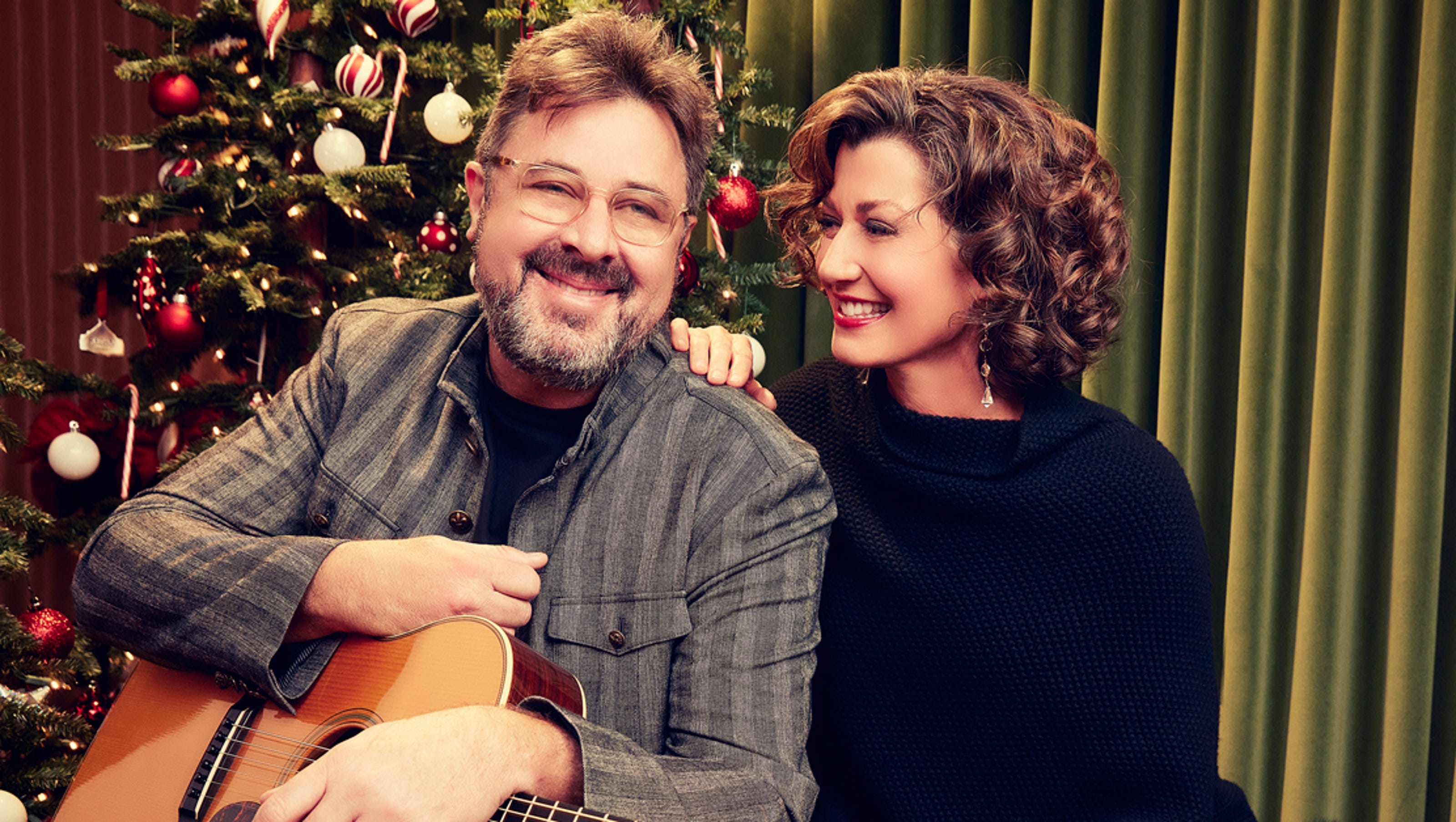 Image result for photo, image, picture, vince gill, amy grant, christmas