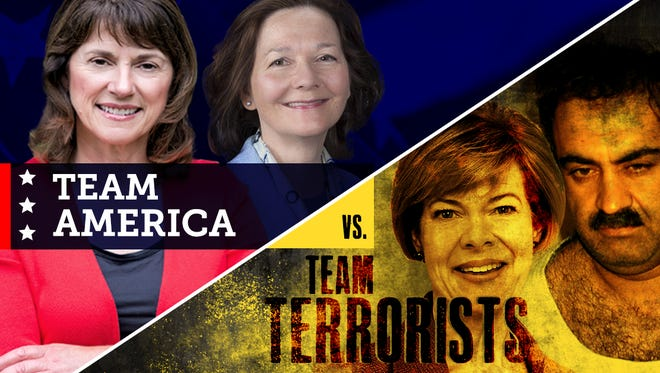"""In a Wednesday news release, the campaign for Republican U.S. Senate candidate Leah Vukmir released an image portraying Democratic U.S. Sen. Tammy Baldwin as a member of """"Team Terrorists."""""""