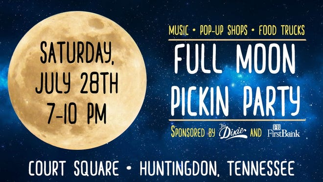 The Dixie's Full Moon Pickin' Party begins 7 p.m. Saturday, July 28, 2018.