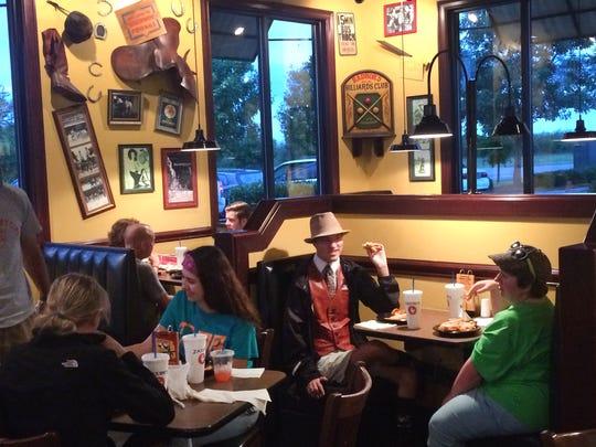 Children socialize at Zaxby's in Hendersonville on