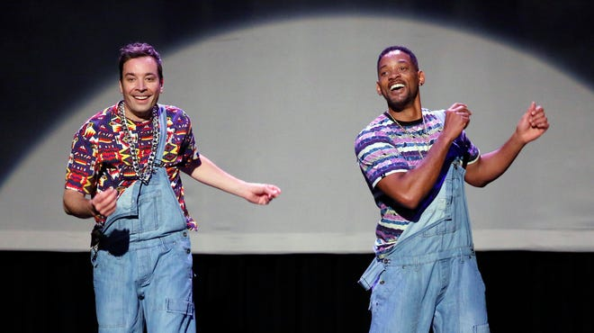 Jimmy Fallon and Will Smith bust some moves on Fallon's first 'Tonight Show' in a hip-hop dance parody.