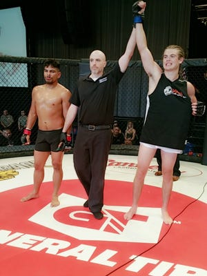 Great Falls native Tommy McMillen won a bout by TKO at the King of the Cage Future Legends event in Las Vegas a few months ago.