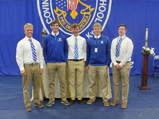 """Members of the CCH 11th/12th Grade """"B"""" Team are, from left: Lucas Timmerman, Cam Pitzer, Danny Kleier, Mitch MacKnight, Logan Boyle. Not pictured: Coire Ayres, Adam Flynn, Sam Romes."""
