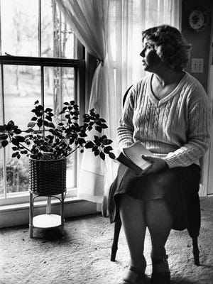Virginia Trimble, at her home in February 1976, was hoping her daughter's killer would confess.