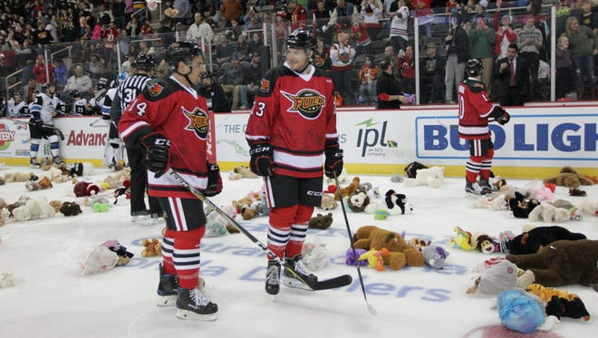The Indy Fuel hosted their third annual Teddy Bear Toss game Saturday.