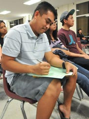 In this file photo, high school students attend University of Guam's College Night.