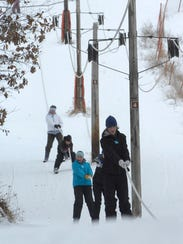 The downhill ski area at Standing Rocks Park will open