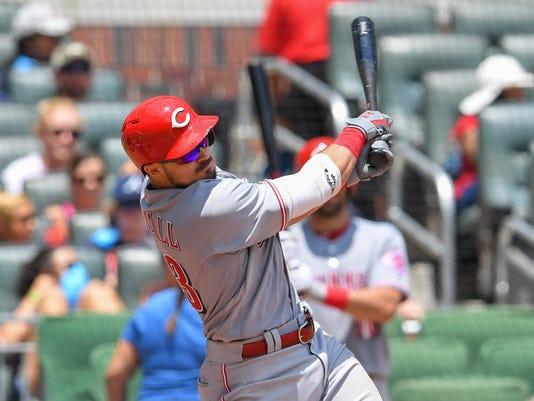 MLB: Cincinnati Reds at Atlanta Braves