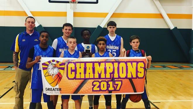 The Western North Carolina Warriors seventh-grade boys basketball team won The Spring Showcase at Rocky Top tournament held last weekend in Gatlinburg, Tenn.
