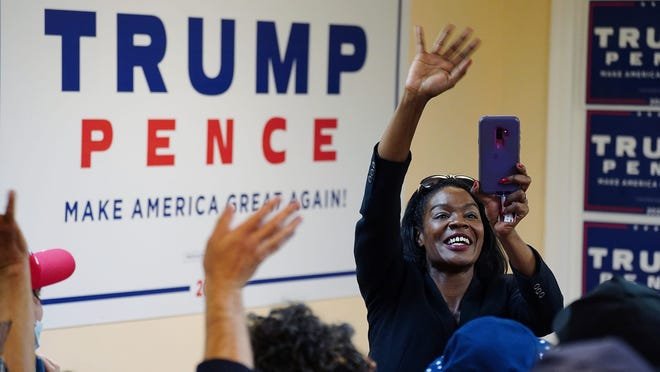 Rayla Campbell of Randolph is running as a Republican against U.S. Representative Ayanna Pressley (D-Dorchester). Police are invetigating a physical altercation Campbell was involved in on Sunday in New Bedford during a pro-Trump rally.