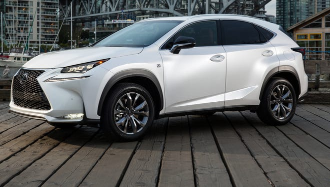 Lexus NX, seen here in the sport edition, has Toyota's first turbocharged engine in the USA.