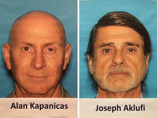 (Left) Alan Kapanicas – 33 felony charges, including embezzlement by a public official, misappropriation of funds, and conspiracy  (right) Joseph Aklufi – Four felony charges, including misappropriation of funds and conspiracy