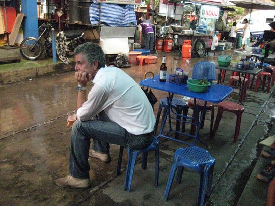 Anthony Bourdain during a visit to Thailand.