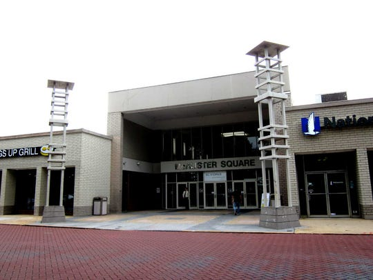 The central door at the former McAlister Square mall