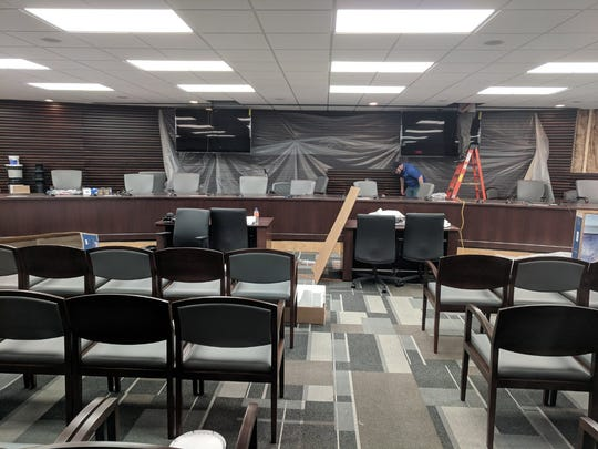 The Memphis City Council nears completion of its committee room renovation on the fifth floor of City Hall.