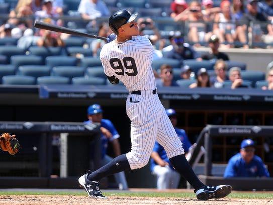 Jul 5, 2017; Bronx, NY, USA; New York Yankees right