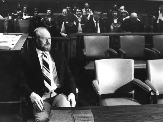 Eugene Tafoya in court.