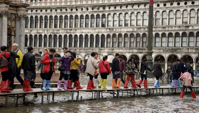 Venice, Italy, here on Nov. 7, 2014, has wrestled for years with rising sea levels.