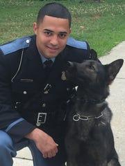 Officer Johnathan Ramos and his K-9 partner Rexo