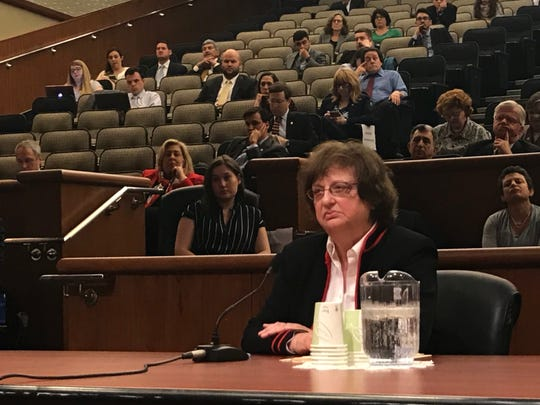 Acting Attorney General Barbara Underwood listens to questions from state lawmakers during her interview on Tuesday, May 15, 2018, to fill out the rest of Eric Schneiderman's term.