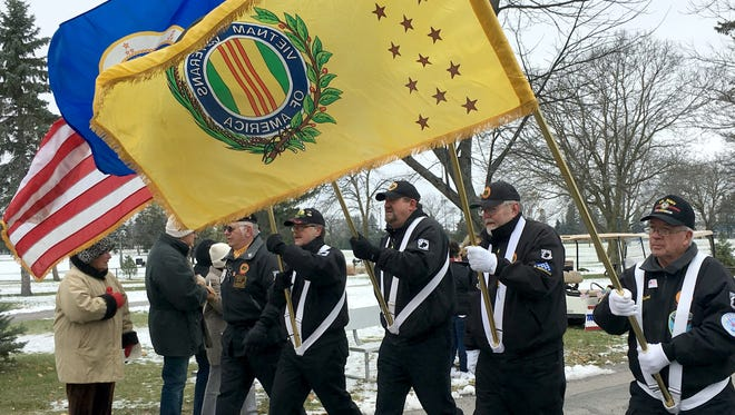 Veterans from the Vietnam War marched in the annual St. Cloud Area Veterans Parade at the St. Cloud VA Health Care System on Sunday, Nov. 5, 2017.