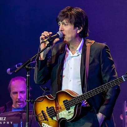 """Tony Kishman performs as Paul McCartney at """"Live and"""