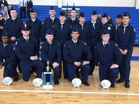 Middletown High School's Air Force Jr. ROTC Drill Team placed second at the Senator's Joint Service Drill Competition.