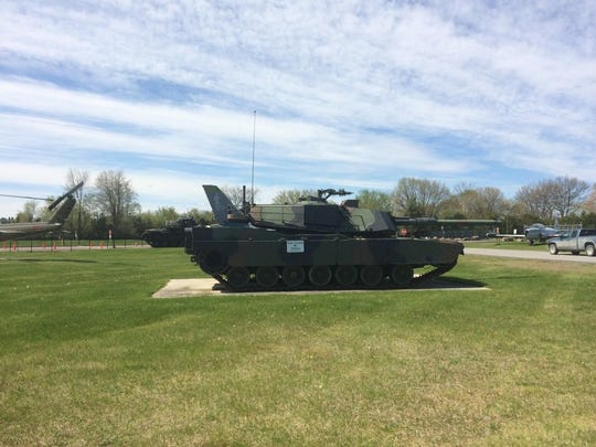 Armored vehicle display at the Camp Johnson museum.
