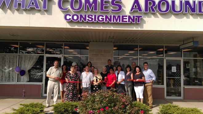 What Comes Around Consignment had the ribbon-cutting ceremony Friday, July 8.