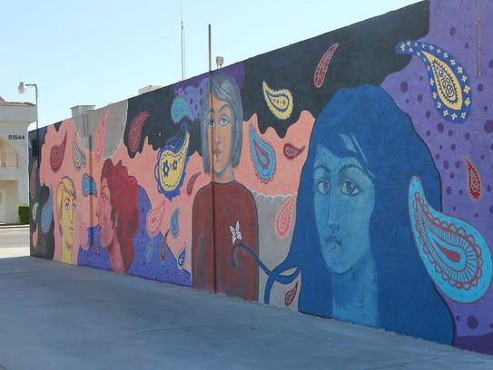 The mural created by Sofia Enriquez in Coachella.