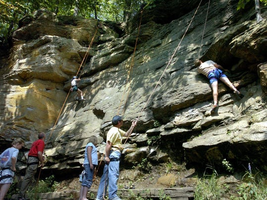 Title The Ledges climbers