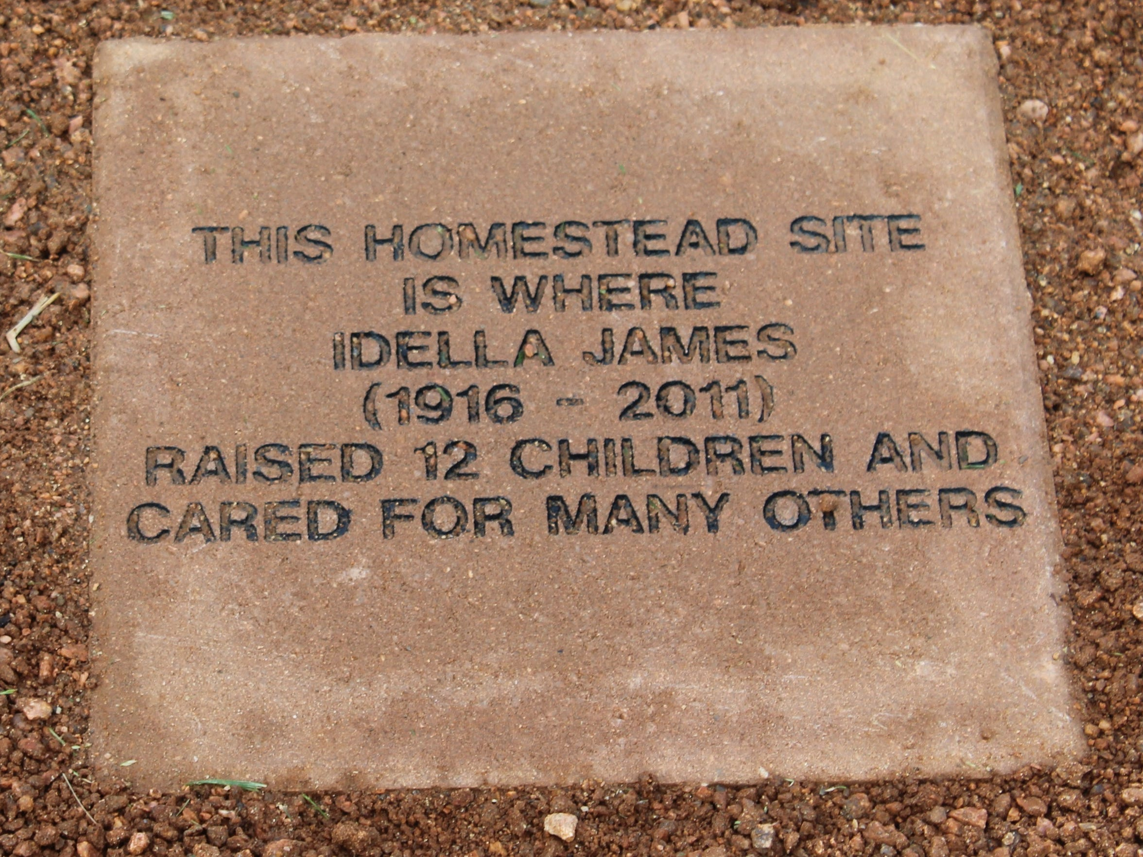 A marker on the new site of Hendrick Hospice Care honors Idella James, who was provided hospice care before her death in 2011.