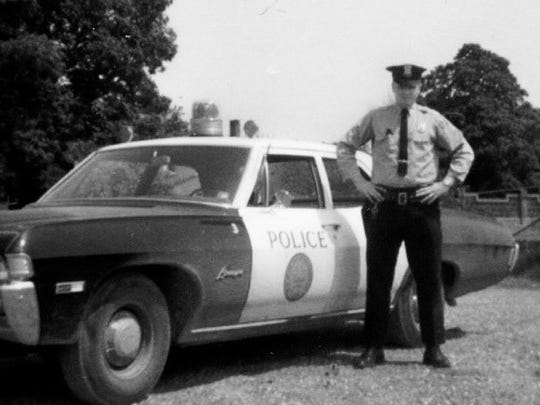 Daniel Carlson during the late 1960s, when he was a Poughkeepsie city police officer.