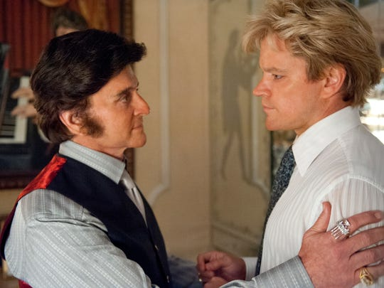 This film image released by HBO shows Michael Douglas,