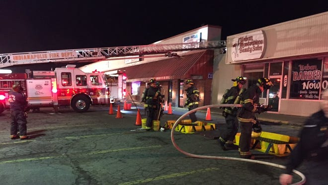 The Indianapolis Fire Department is investigating a strange odor at Westwood Plaza on the city's west side.