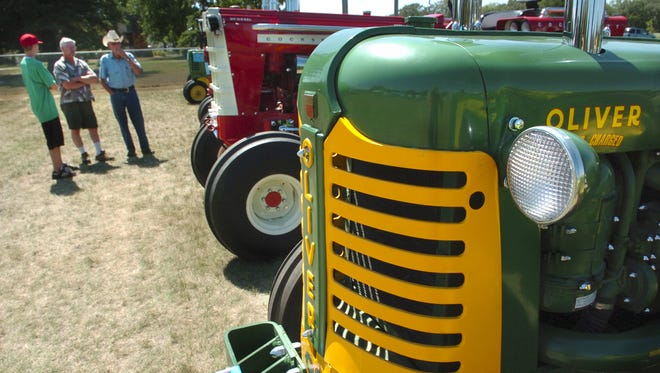Vintage tractors and classic cars were on display at the 2007 Rock-Fest in Rockville.