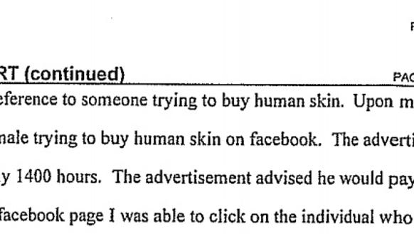Human skin buying case